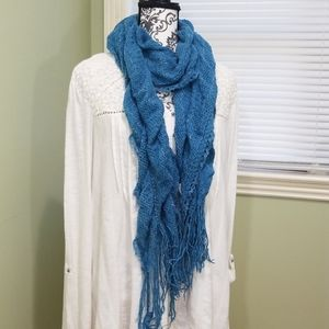 Maurices Knit Scarf - Stretchy Teal w/Silver